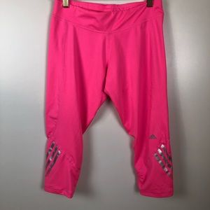 Adidas climalite pink cropped athletic leggings M